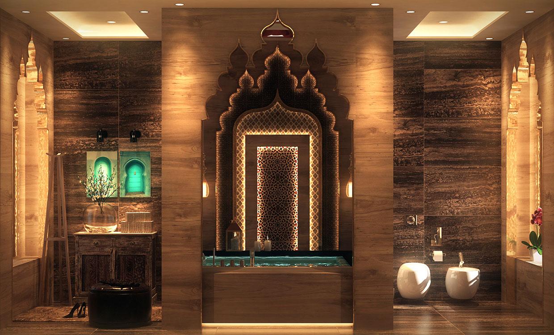 Mẫu cải tạo và thiết kế không gian phòng tắm theo phong cách Shabby Chic