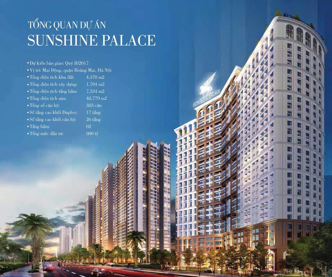 Phối cảnh tổng quan chung cư Sunshine Palace