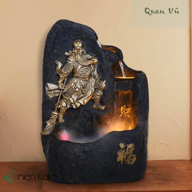 Chia sẻ các vị trí xắp đặt tượng Quan Vân Trường theo phép phong thủy - Thacnuocphongthuy.vn